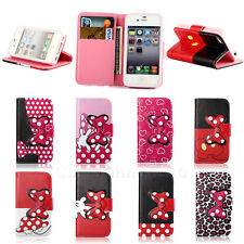 Carey / For iPhone 4G 4S Flip Wallet Leather Stand Pouch Protect Soft Case Cover