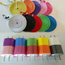 3x 10FT Rapid Charge Sync Micro USB Cables + 3x Wall Chargers For Android Phones