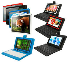 "Multi-Color 8GB 7"" Tablet PC Android 4.4 KitKat Quad Core A33 Cameras w/Keyboard"