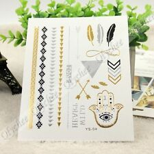 GOLD SILVER flash Tattoos***YOU PICK***JEWELRY INSPIRED*** FREE SHIP !!!