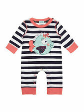 New Lilly & Sid Baby Girl Fishy Applique All in One Sleepsuit  RRP 20