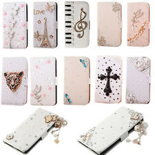 FL DIY Bling PU Leather Wallet Credit Card Stand Case Cover for Various Phones