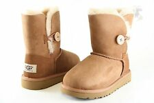 Kids UGG Australia Bailey Button Boot 5991Chestnut 100% Authentic Brand New