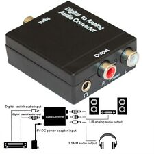 3.5 Digital Optical Coaxial Toslink Signal to Analog Audio Converter Adapter RCA