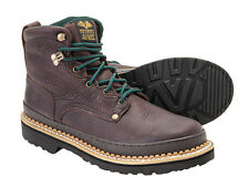 Georgia Giant Brown Steel Toe Leather Solid Welt Work Boots Mens Shoes G6374