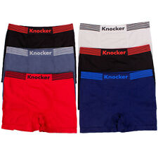 6 Mens Seamless Boxer Briefs Underwear Athletic Compression Shorts Trunks 1 Size