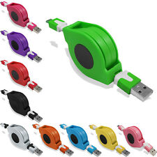 Retractable 1M Micro USB Charger Flat Noodles Cable FOR Mobile Phone & Tablet