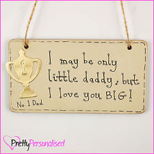 Fathers Day Gift - CHOOSE DESIGN - Wooden Wall Plaque for Dad Daddy Hanging Sign