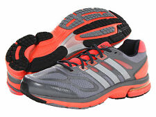 Men Adidas Running Supernova Sequence 6 Q21470 Gray Silver Red 100% Authentic