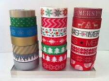 CHRISTMAS WASHI TAPE: CHOOSE FROM 20 DIFFERENT PATTERNS- BRAND NEW