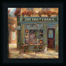 Wine Shop by Ruane Manning French Café Framed Art Print Wall Décor Picture