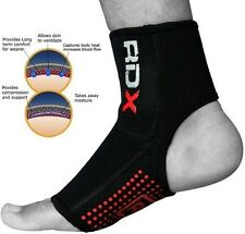 Auth RDX Neoprene Ankle Brace Support Pad Guard MMA Foot Sport Black/Red Gym, US