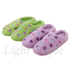 Tops Women Heart Cute Anti-slip Shoes Soft Warm Cotton House Indoor Slippers 46