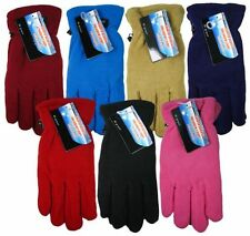 Ladies Womens Polar Fleece Microfiber Thermal Insulated Winter Gloves Warm Gifts