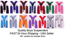 New Boys Girls Toddler Kids Suspenders, WITH AND WITHOUT BOW TIES - 15+ Colors