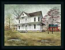 April Showers Billy Jacobs White Farmhouse Red Star 18x24 Framed Wall Art Print