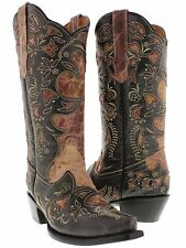 women's ladies distressed pink & black leather western cowgirl cowboy sexy rodeo