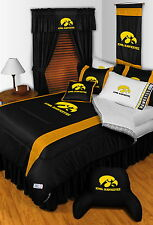 Iowa Hawkeyes Comforter Sham Bedskirt Curtain Valance Twin to King Size Sets