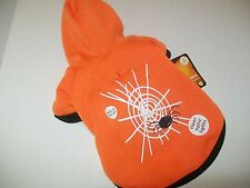 SPIDER WEB Hoodie Dog new pet halloween costume Wag-a-tude XS S  Lights up
