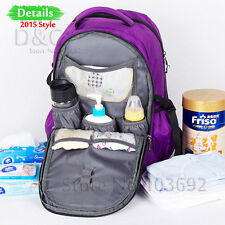 Women Fashion Purple Baby Diaper Nappy Changing Backpack Mummy Bag Handbags Mens