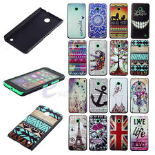 Classic Plastic Pattern Design Back Case Cover For Nokia Lumia N630 N635 -E-ZONE