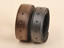 Genuine Full Grain Leather Belt Slide Strap Without Buckle