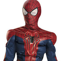 Spider-Man Reflective Muscle Costume Child S M L Kids Boys Halloween