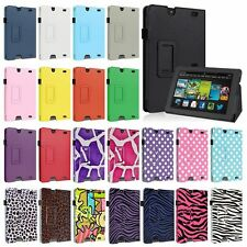 "Folio PU Leather Case Smart Cover Stand For 2013 New Kindle Fire HD 7 7"" 2nd Gen"