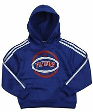 Adidas NBA Little Boy's Kids Detroit Pistons 3 Stripe Pullover Hoodie, Blue