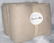 New PEACOCK ALLEY Thick Upcycled Cotton Flannel 4P Sheet Set Queen or King Beige