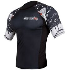 Hayabusa Tech Falcon Short Sleeve Rashguard (Black) - bjj ufc mma