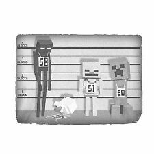 Minecraft Character Lineup Usual Suspects OFFICIAL Youth Kids Ice Grey T-Shirt
