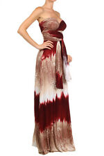 INFINITY CONVERTIBLE WRAP MAXI DRESS RED TIE DYE Halter Multy Way Dress  S M L