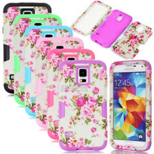 Peony Flower Armor Dual Layer Matte Combo Cover Case For Samsung Galaxy S4 S5 S6