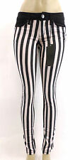 NWT YMI LOVE JEANS Black and White Vertical Stripe Skinny Striped Sizes 0 - 13