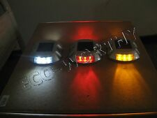 Solar LED Markers 3color Pathway Lights Driveway boat Road dock pool waterproof