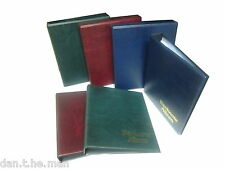 CLASSIC  BANKNOTE ALBUM, CHOICE OF SLEEVES, BLUE RED OR GREEN + ADD SLIPCASE