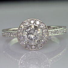 EGL Certified Engagement Ring Antique StyleRound Cut Diamond 2.12 Carat Total