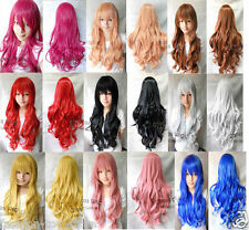 Womens/Ladies 80cm Long CURLY WAVY Cosplay/Costume/Anime/Party Full Sexy Wig