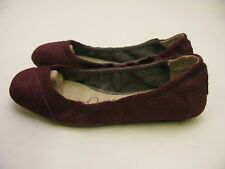 TOMS - WOMENS BALLET FLATS WINE SUEDE SNAKE 10003549