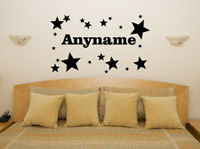 Custom Personalised Name Stars Children's Bedroom Decal Wall Art Sticker Picture
