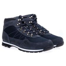 Timberland 6657A Mens Size Euro Hiker Navy Leather and Fabric Boots