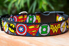 Superhero Dog Collar, Batman, Buckle OR Martingale XS-XL *Premium Quality*
