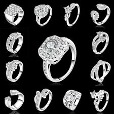 Wholesale Fashion Jewelry Silver Beautiful Men / Women 925Silver Ring XMAS GIFT