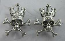 "wholesale 15/50pcs lovely ""Queen"" skull Retro style silver alloy charms pendant"