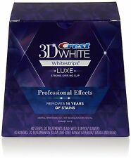 CRESΤ3D WHITE PROFESSIONAL EFFECTS TEETH WHITENING 10/20/30 STRIPS OR SEALED BOX