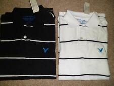 NWT Mens AMERICAN EAGLE Athletic Fit Striped Polo Shirt Pique Cotton