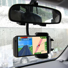 Car Rearview Mirror Mount Holder Stand Cradle For Andriod iOS Mobile Cell Phone