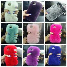 Hot New Warm Soft Rabbit Fur Skin Case Cover For Apple iPhone 4 4S 5S 5 6 Plus