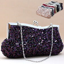 Glamorous Simple Party Sequined Clutch Bag Prom Evening Handbag Bow Gift Ideas